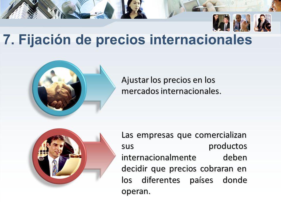 7. Fijación de precios internacionales