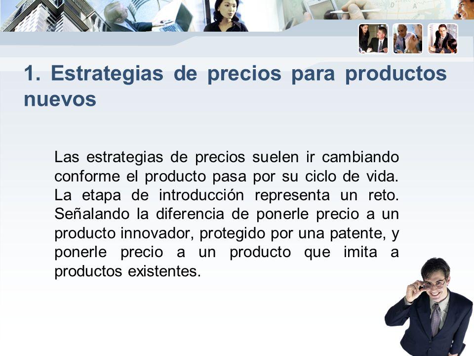 1. Estrategias de precios para productos nuevos