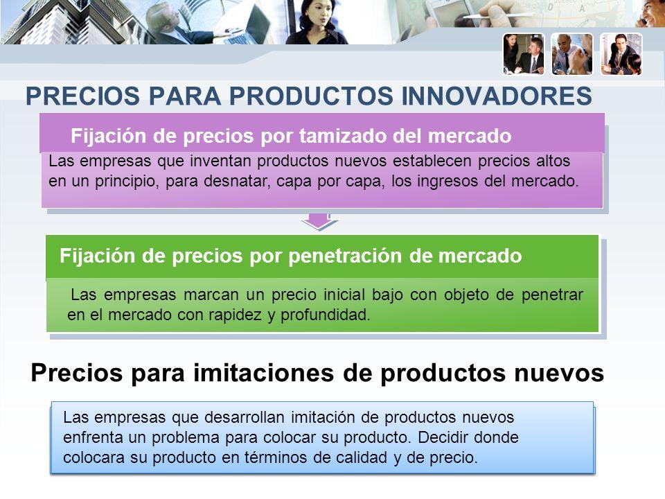 Precios para productos innovadores