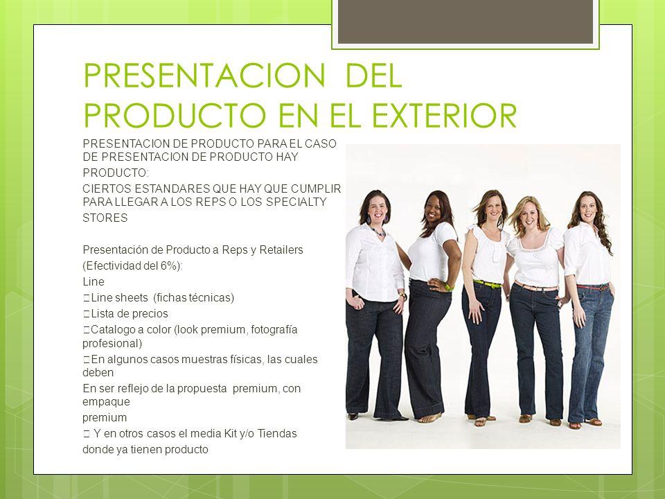 PRESENTACION DEL PRODUCTO EN EL EXTERIOR