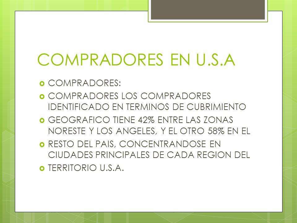 COMPRADORES EN U.S.A COMPRADORES: