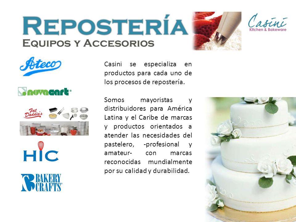 Casini se especializa en productos para cada uno de los procesos de repostería.