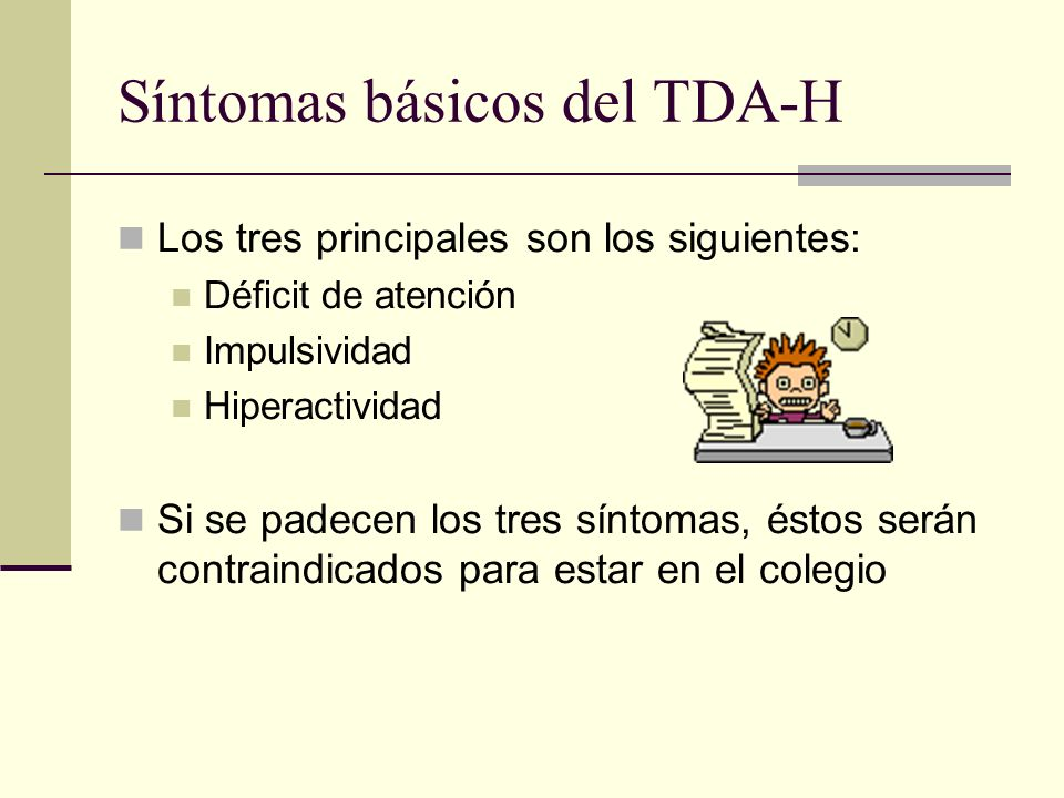 Síntomas básicos del TDA-H