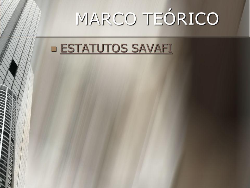 MARCO TEÓRICO ESTATUTOS SAVAFI