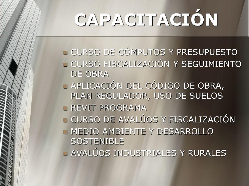 CAPACITACIÓN CURSO DE CÓMPUTOS Y PRESUPUESTO