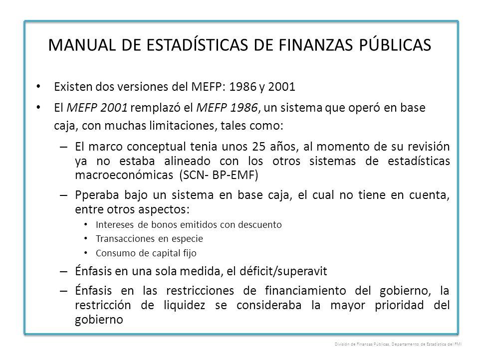 MANUAL DE ESTADÍSTICAS DE FINANZAS PÚBLICAS