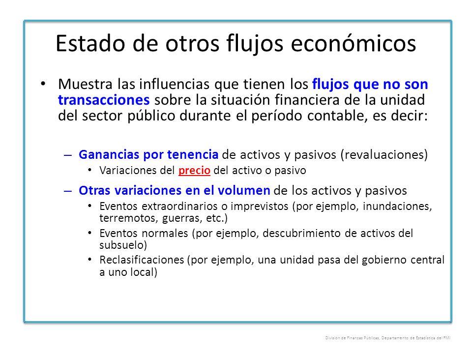 Estado de otros flujos económicos