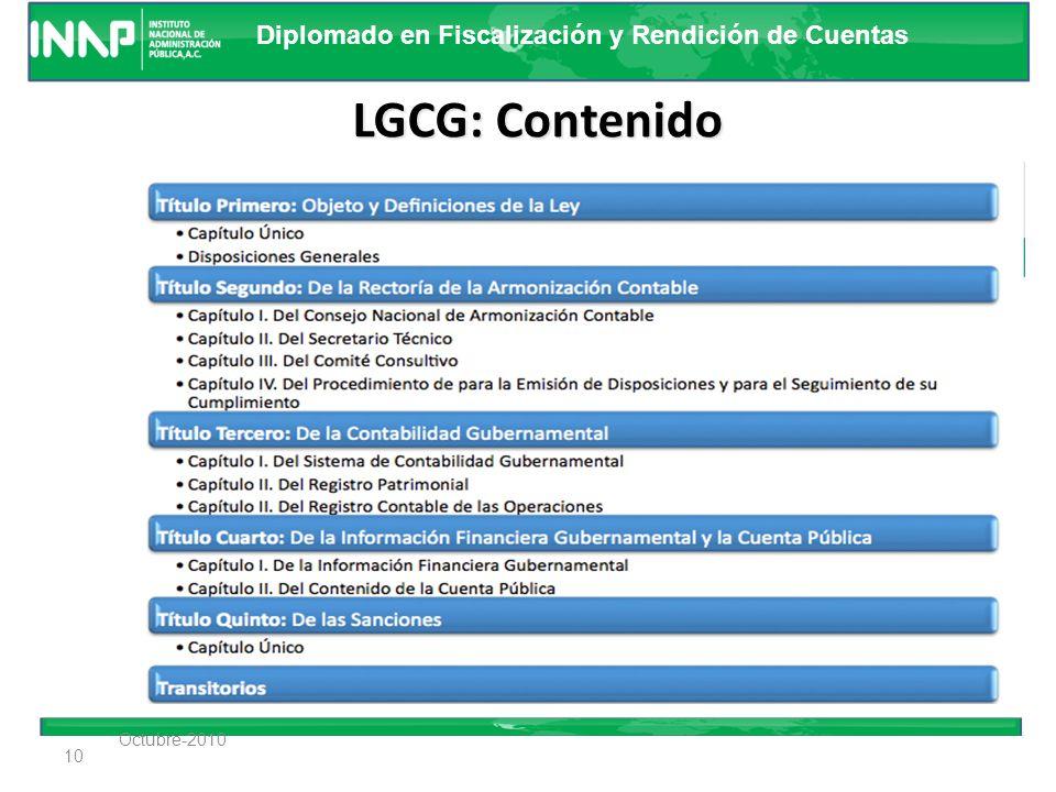 LGCG: Contenido Octubre-2010