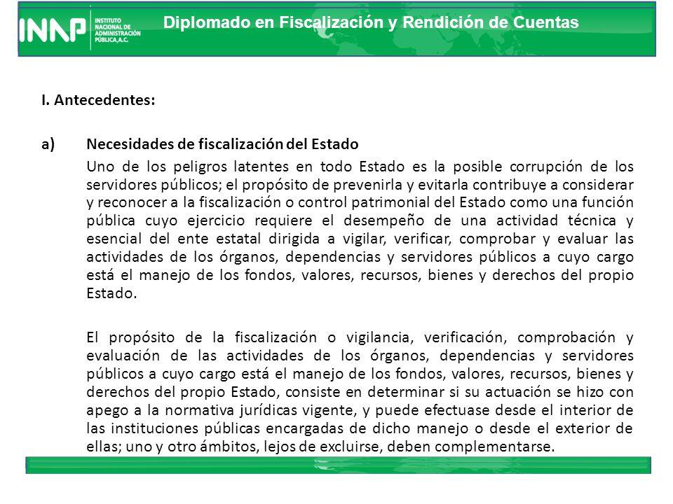 Diplomado en Fiscalización y Rendición de Cuentas