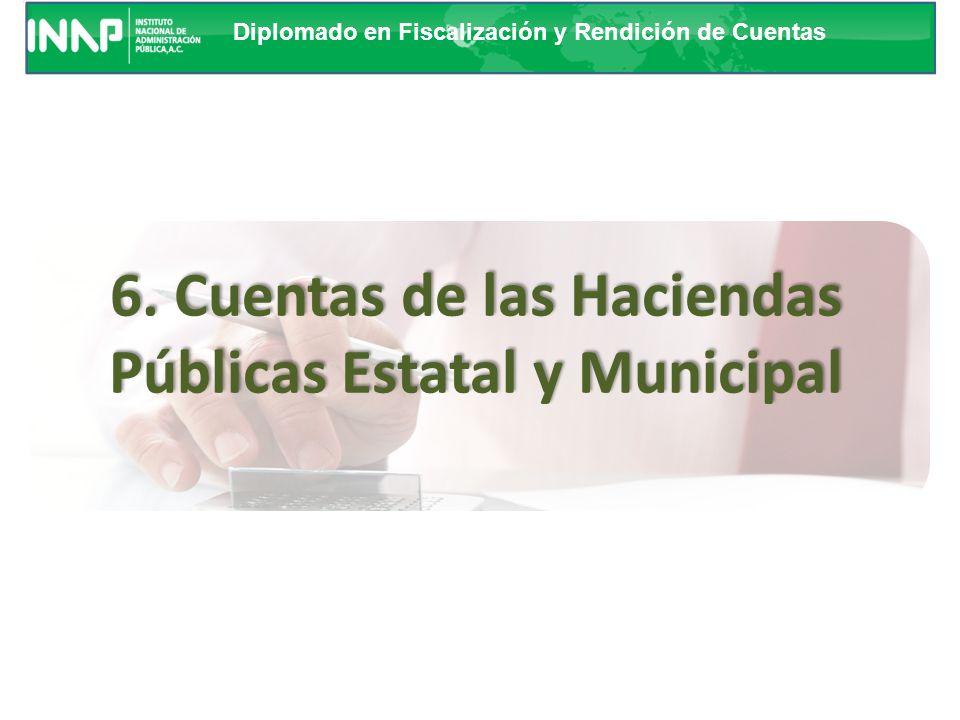 6. Cuentas de las Haciendas Públicas Estatal y Municipal