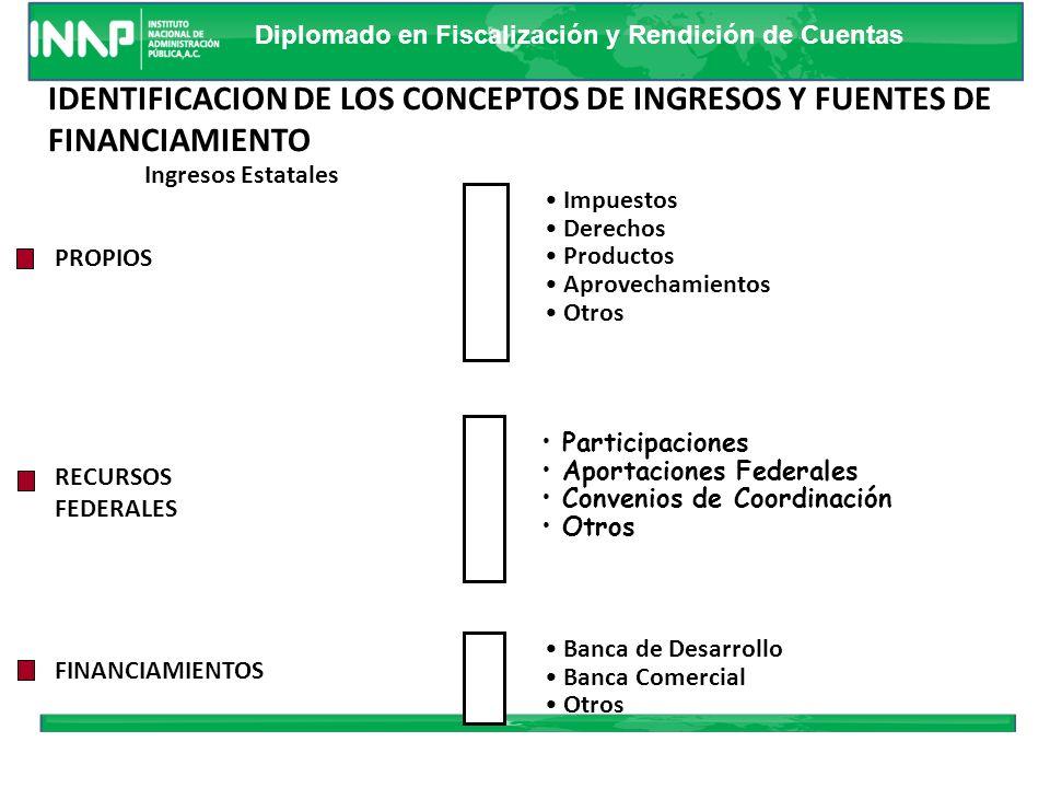 IDENTIFICACION DE LOS CONCEPTOS DE INGRESOS Y FUENTES DE FINANCIAMIENTO
