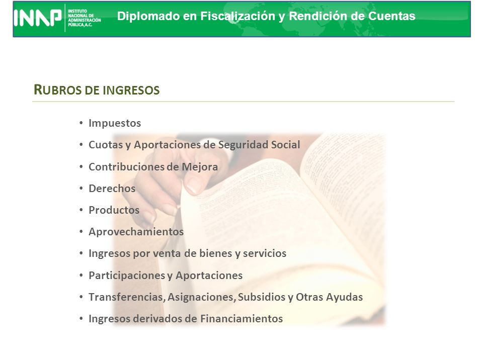 RUBROS DE INGRESOS Impuestos Cuotas y Aportaciones de Seguridad Social