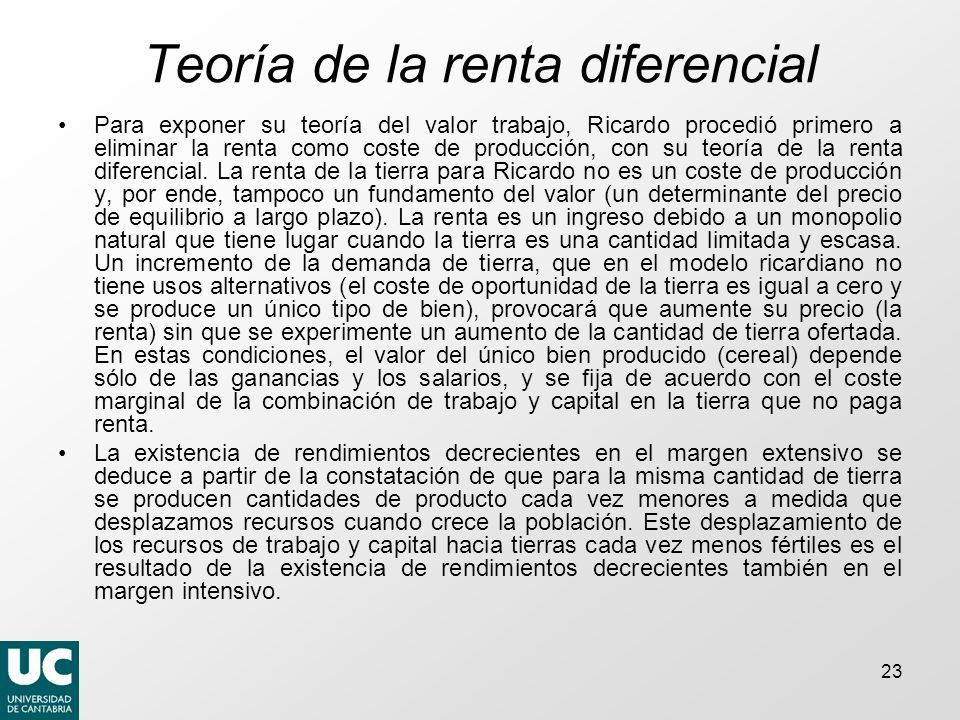 Teoría de la renta diferencial