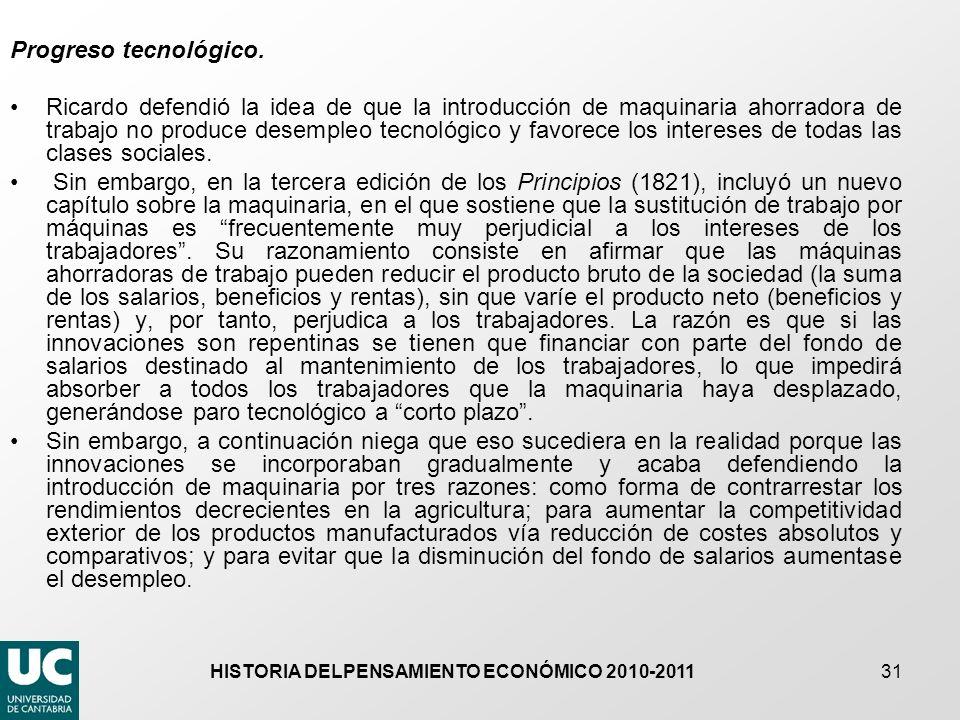 HISTORIA DELPENSAMIENTO ECONÓMICO 2010-2011