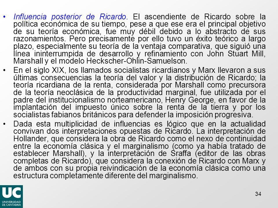 Influencia posterior de Ricardo