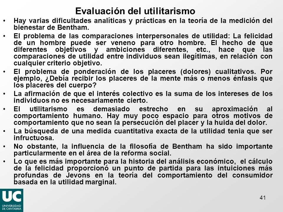 Evaluación del utilitarismo