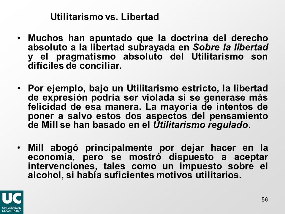 Utilitarismo vs. Libertad