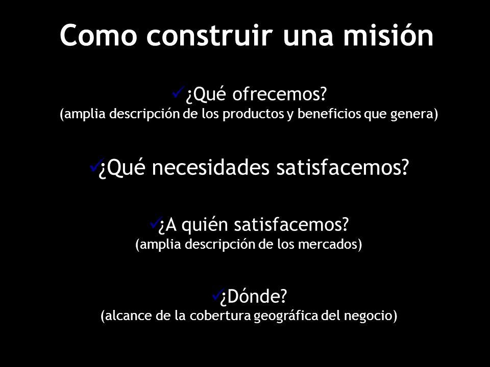 Como construir una misión