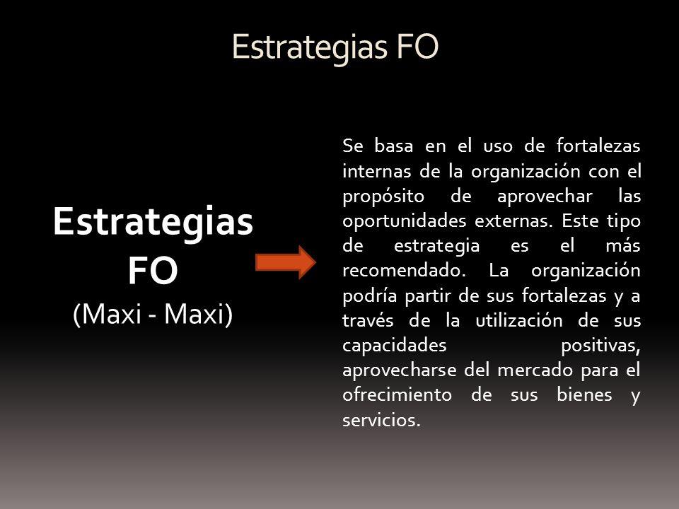 Estrategias FO Estrategias FO (Maxi - Maxi)
