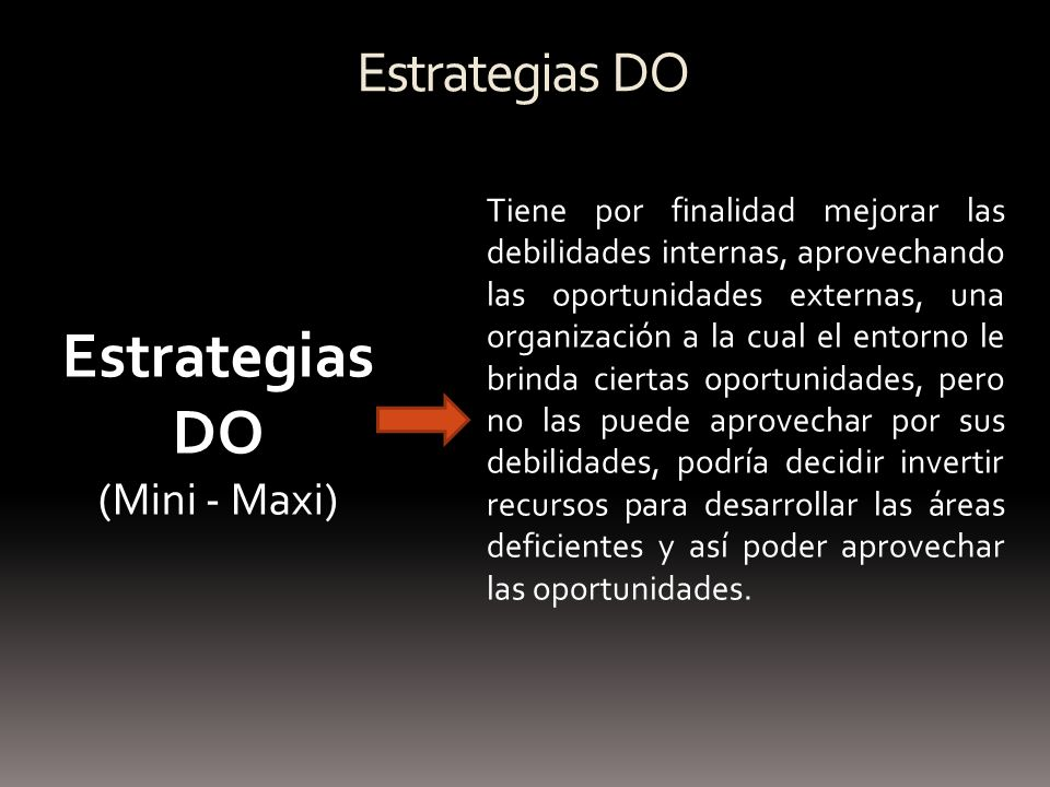 Estrategias DO Estrategias DO (Mini - Maxi)