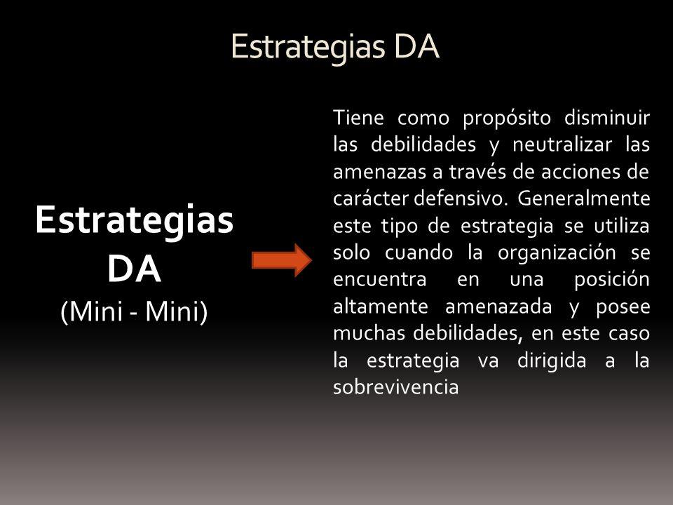 Estrategias DA Estrategias DA (Mini - Mini)
