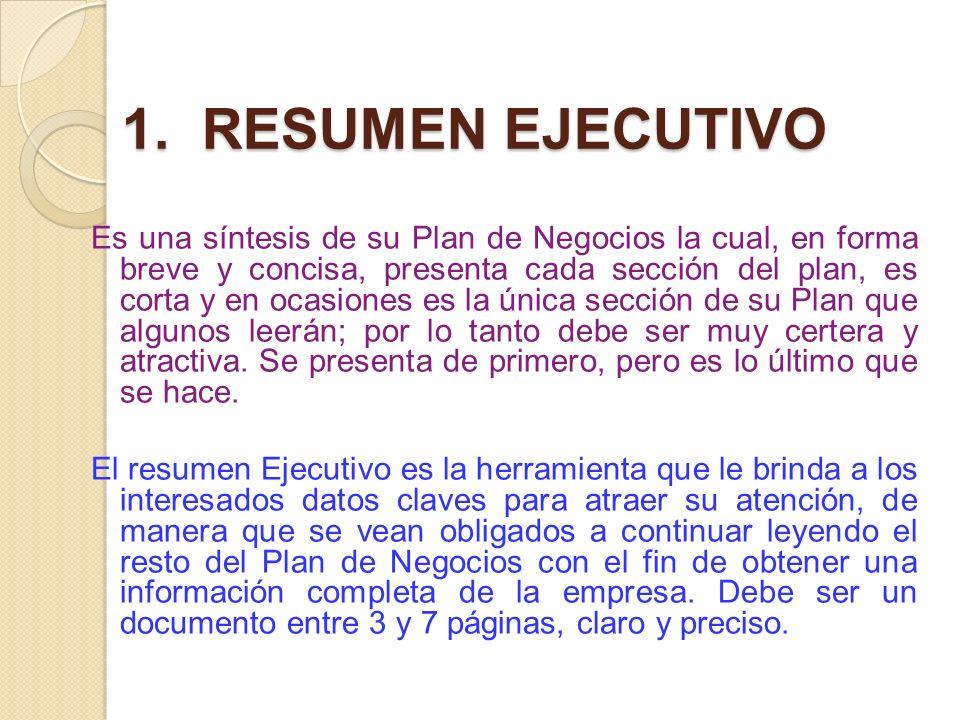 1. RESUMEN EJECUTIVO
