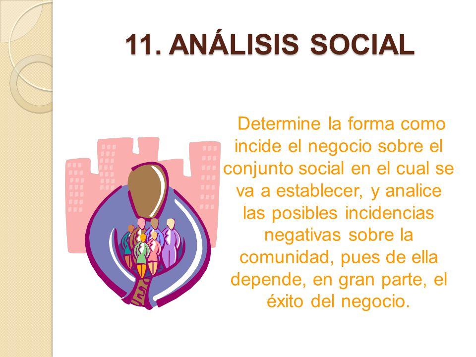 11. ANÁLISIS SOCIAL