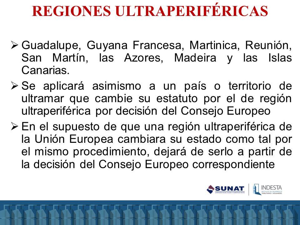REGIONES ULTRAPERIFÉRICAS