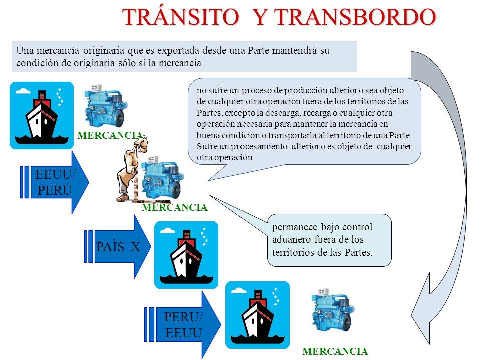 TRÁNSITO Y TRANSBORDO EEUU/ PERÚ PAÌS X PERU/ EEUU