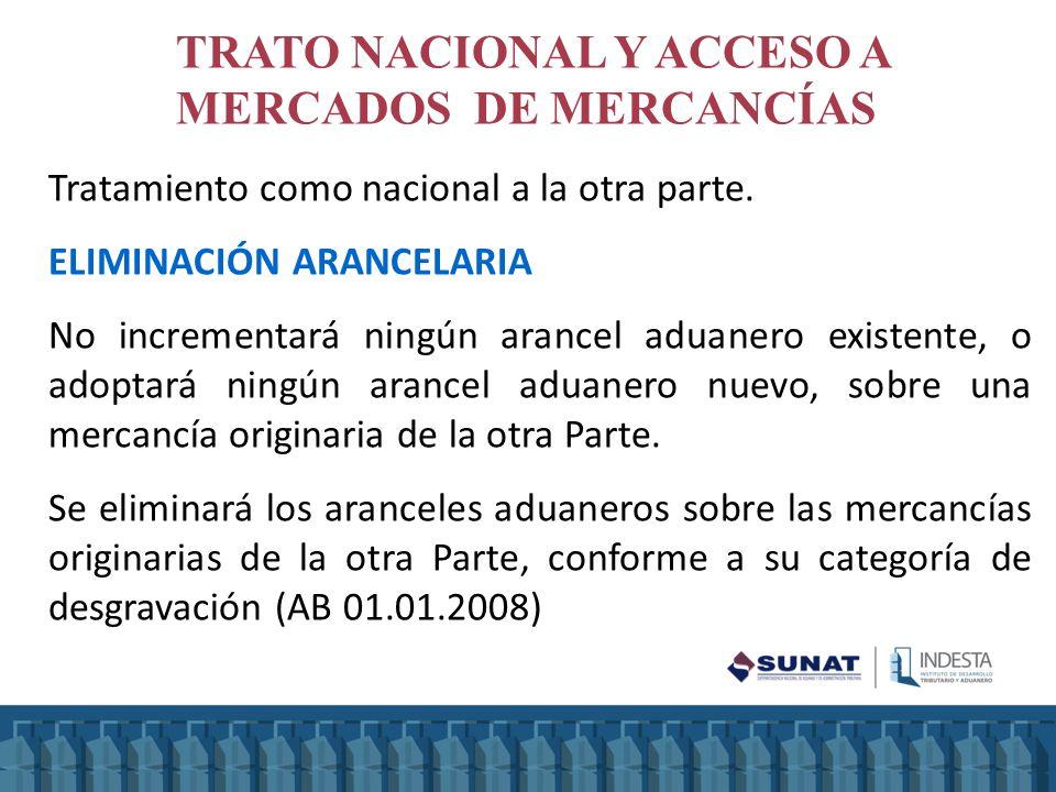 TRATO NACIONAL Y ACCESO A MERCADOS DE MERCANCÍAS
