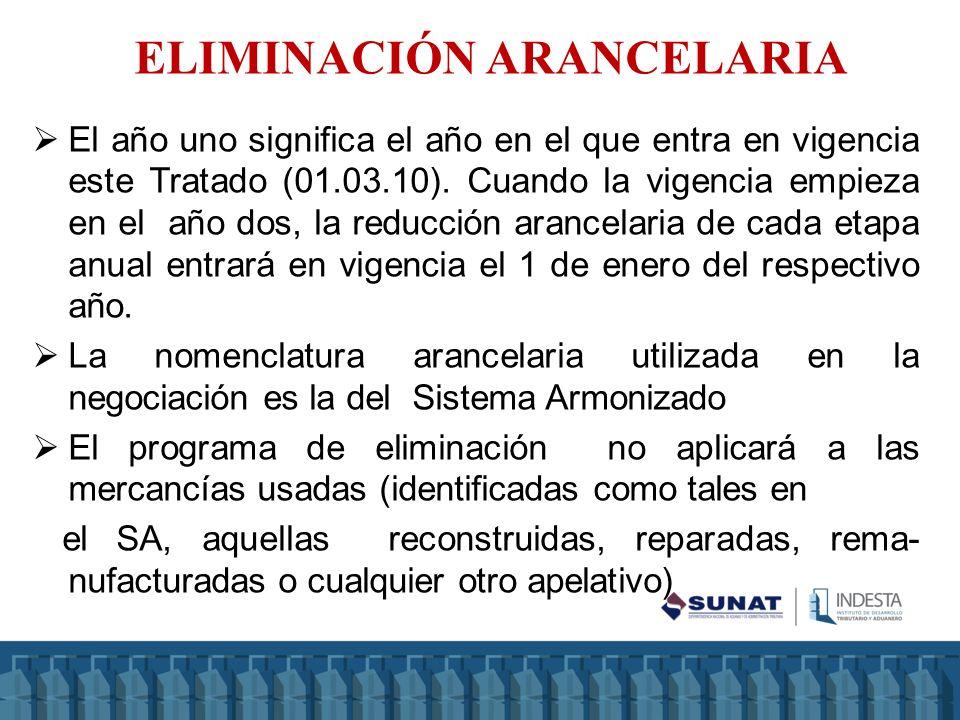 ELIMINACIÓN ARANCELARIA