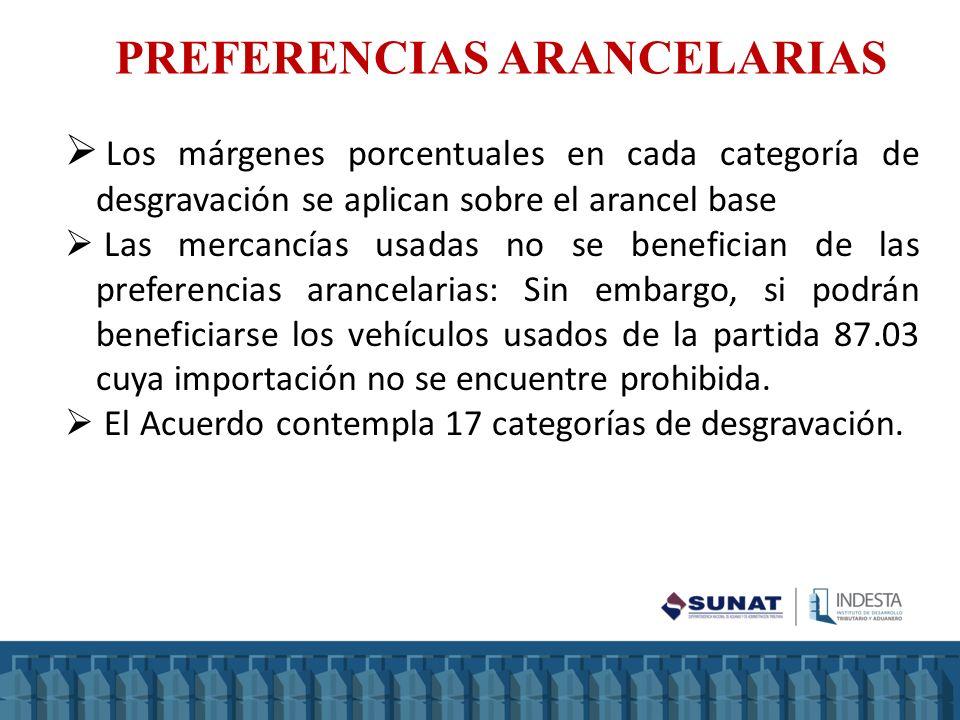 PREFERENCIAS ARANCELARIAS