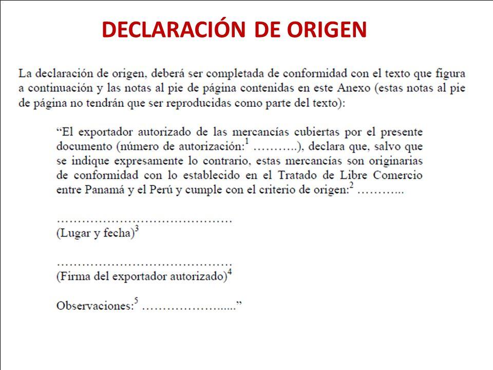 DECLARACIÓN DE ORIGEN 93