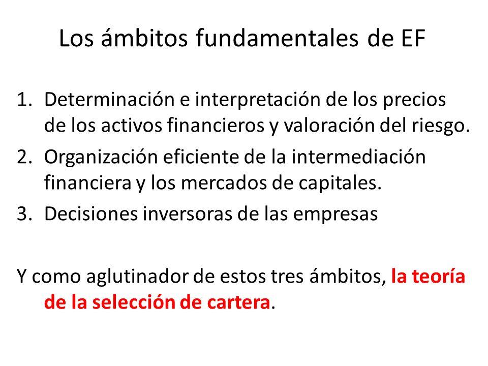Los ámbitos fundamentales de EF