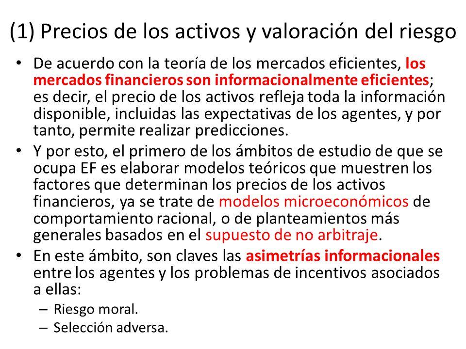 (1) Precios de los activos y valoración del riesgo