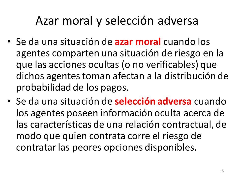 Azar moral y selección adversa