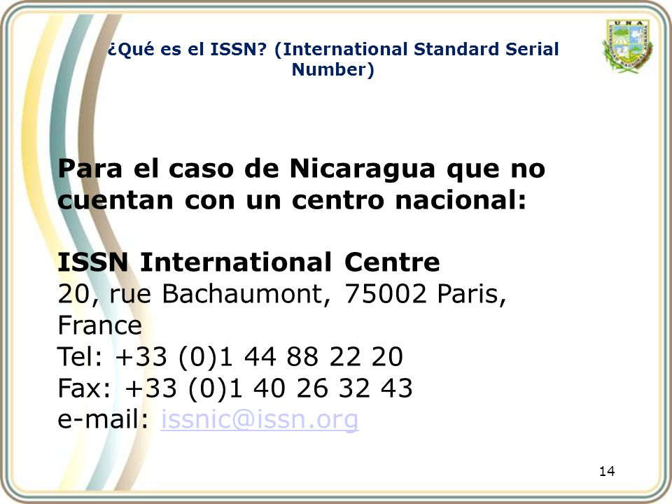 ¿Qué es el ISSN (International Standard Serial Number)
