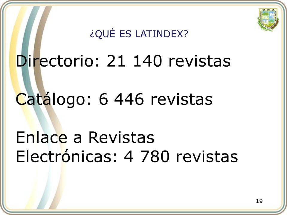 Enlace a Revistas Electrónicas: 4 780 revistas