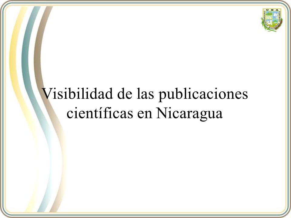 Visibilidad de las publicaciones científicas en Nicaragua
