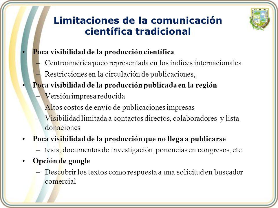 Limitaciones de la comunicación científica tradicional