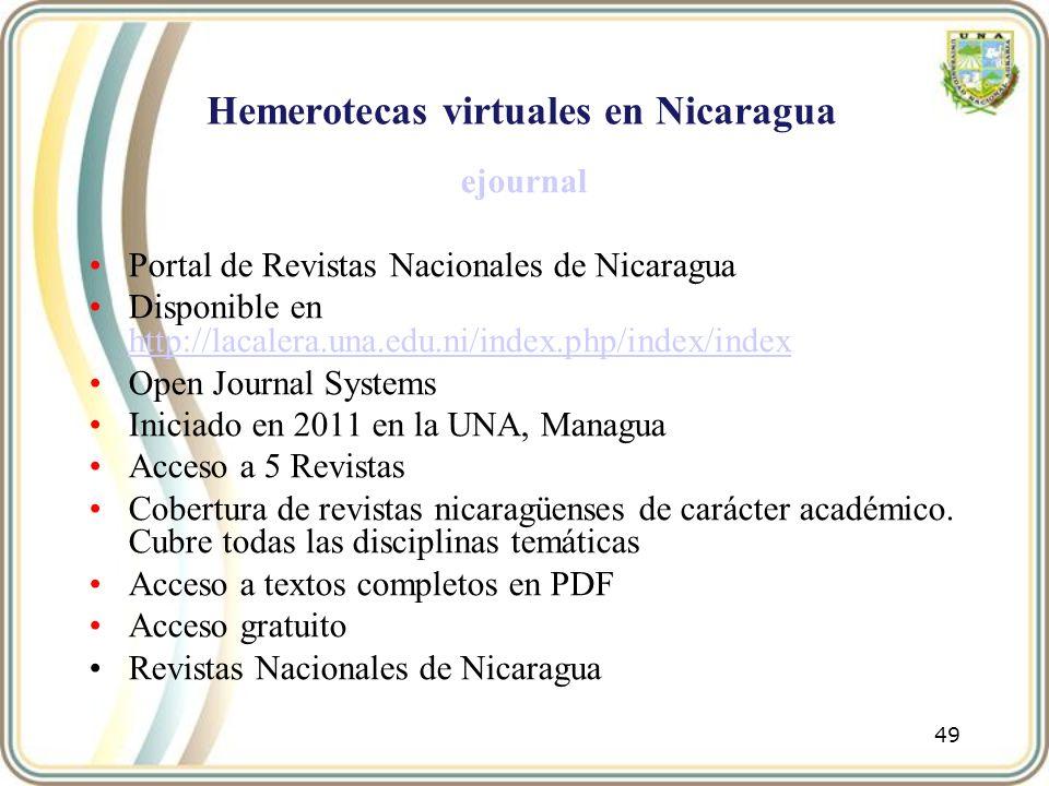 Hemerotecas virtuales en Nicaragua
