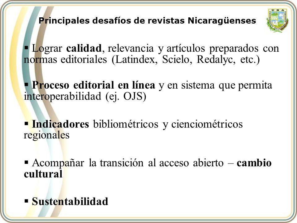 Principales desafíos de revistas Nicaragüenses