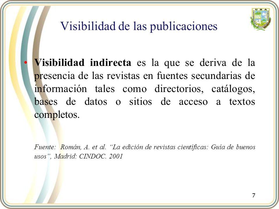Visibilidad de las publicaciones