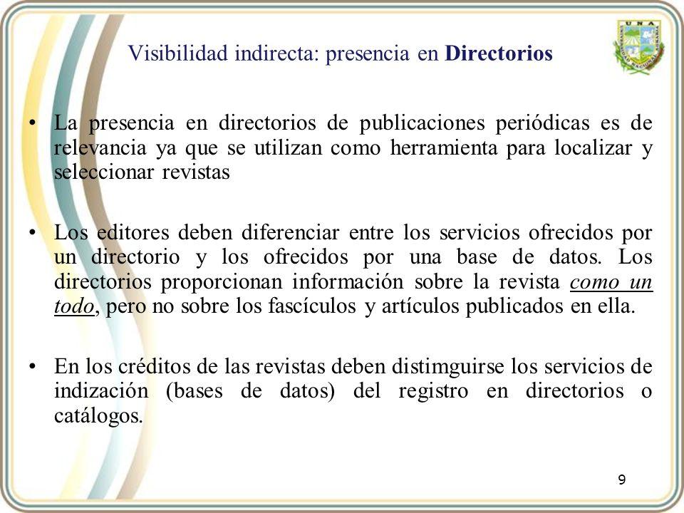 Visibilidad indirecta: presencia en Directorios