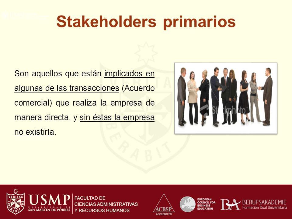 Stakeholders primarios
