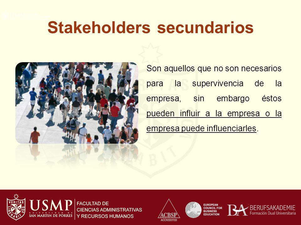 Stakeholders secundarios