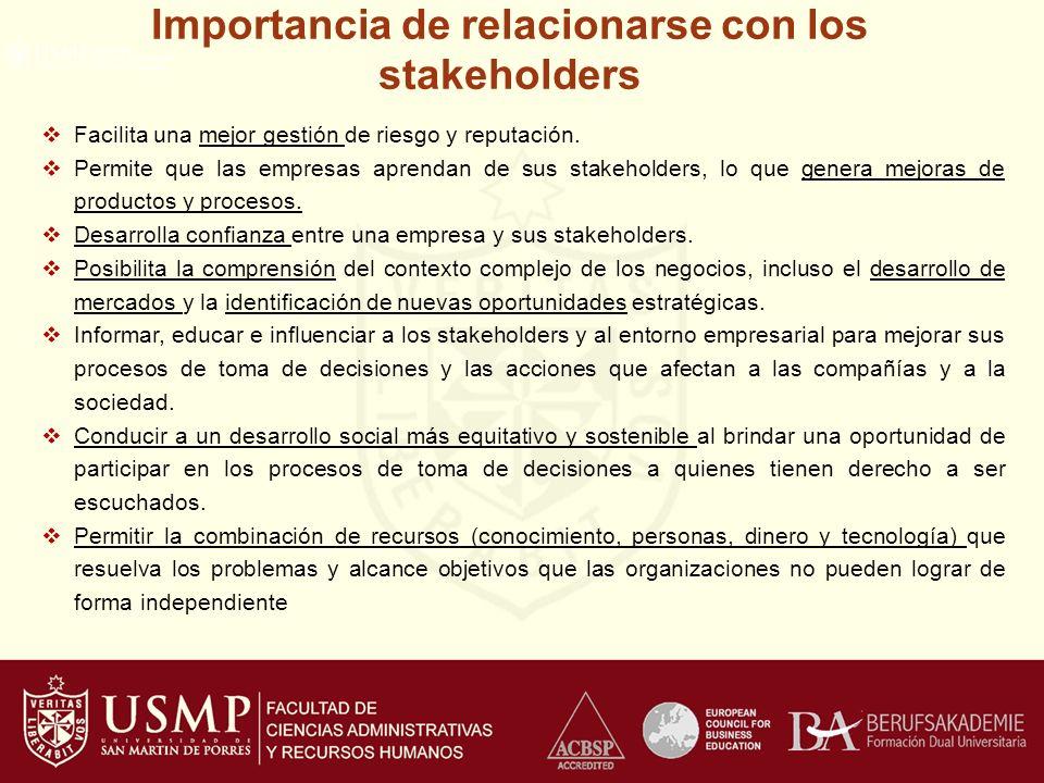 Importancia de relacionarse con los stakeholders