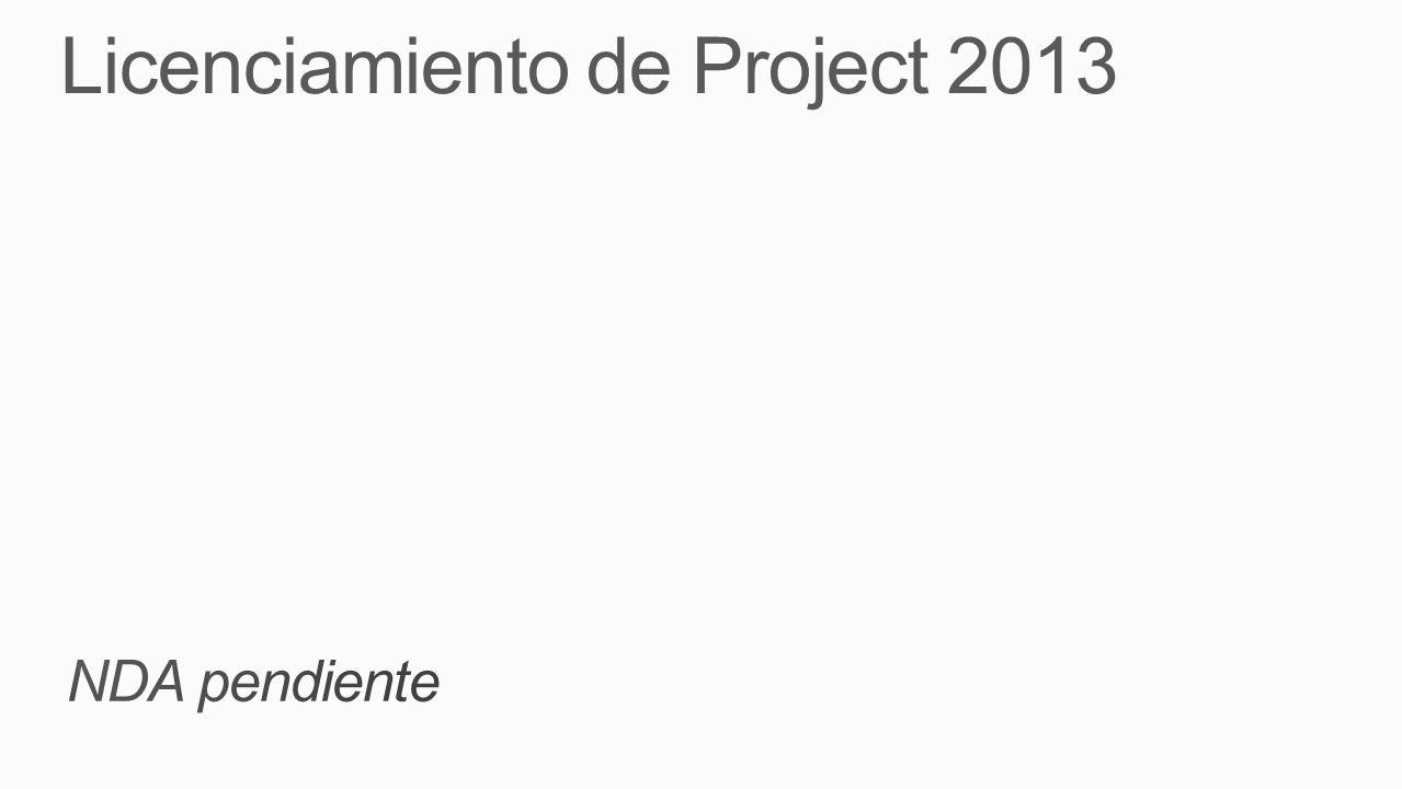 Licenciamiento de Project 2013