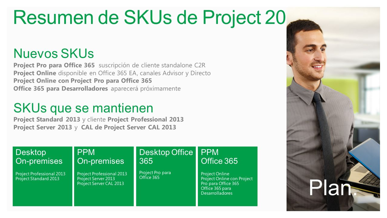 Resumen de SKUs de Project 2013