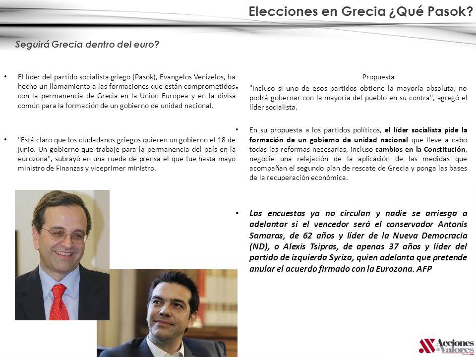 Elecciones en Grecia ¿Qué Pasok